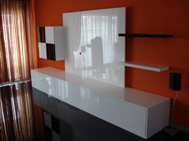 paroi murale tv meuble de salon contemporain. Black Bedroom Furniture Sets. Home Design Ideas