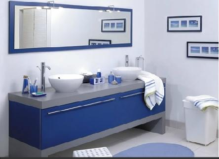 salles de bain salle de bain bleu mac cuisines. Black Bedroom Furniture Sets. Home Design Ideas