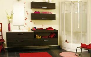Salle de bain chêne anthracite